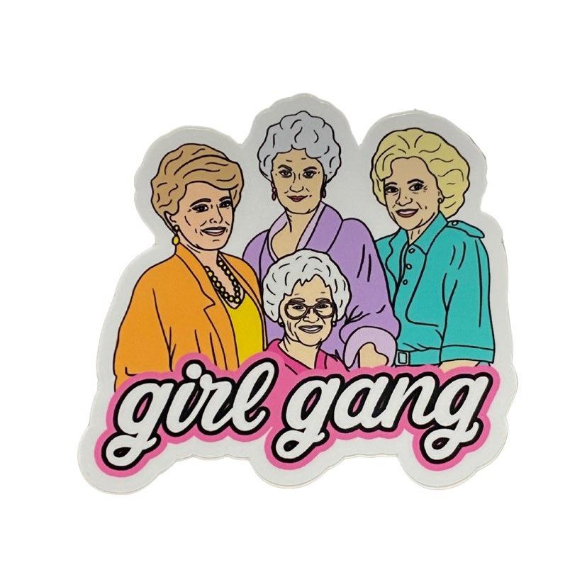 Golden Girl Gang Sticker