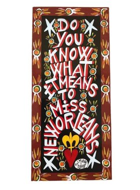 Simon of New Orleans Do You Know What It Means Magnet