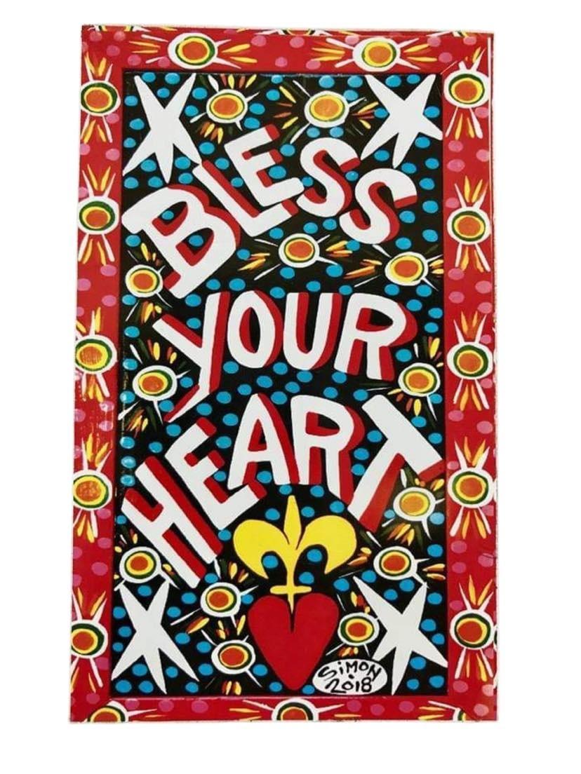 Simon of New Orleans Bless Your Heart Magnet