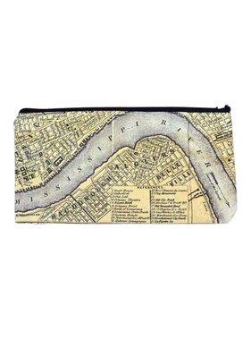 New Orleans Map Tyvek Zipper Pouch