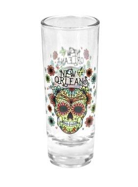 Floral Sugar Skull Shot Glass