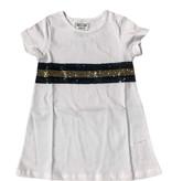 Black & Gold Sequin Stripe Dress