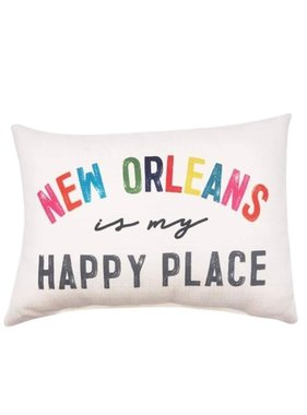 New Orleans Happy Place Pillow