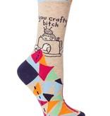 Blue Q You Crafty Bitch Socks