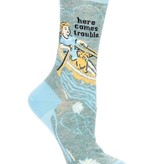 Blue Q Here Comes Trouble Socks