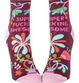 Blue Q Super F*cking Awesome Ankle Socks