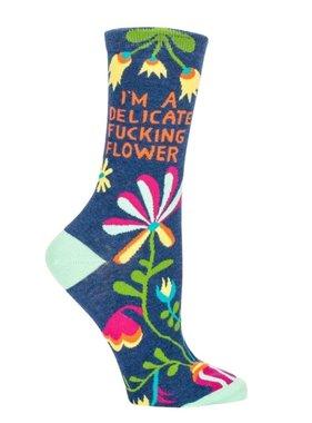 Blue Q Delicate Flower Crew Socks