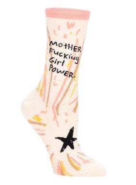 Blue Q Girl Power Crew Socks