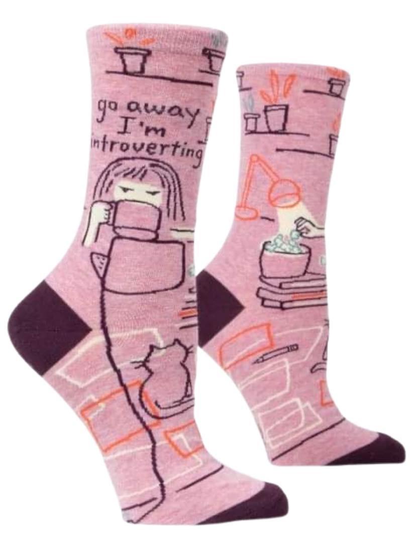 Blue Q Go Away Introverting Socks