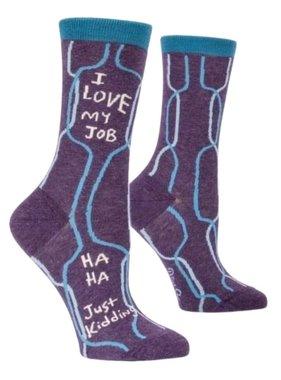 Blue Q I Love My Job Socks