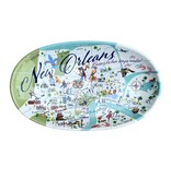 New Orleans Map Trinket Tray