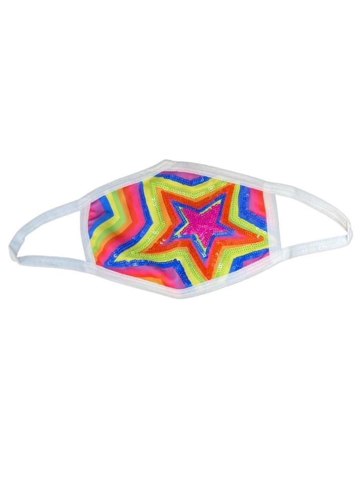 Sparkle City Star Face Mask