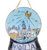 NOLA Snow Globe Door Hanger