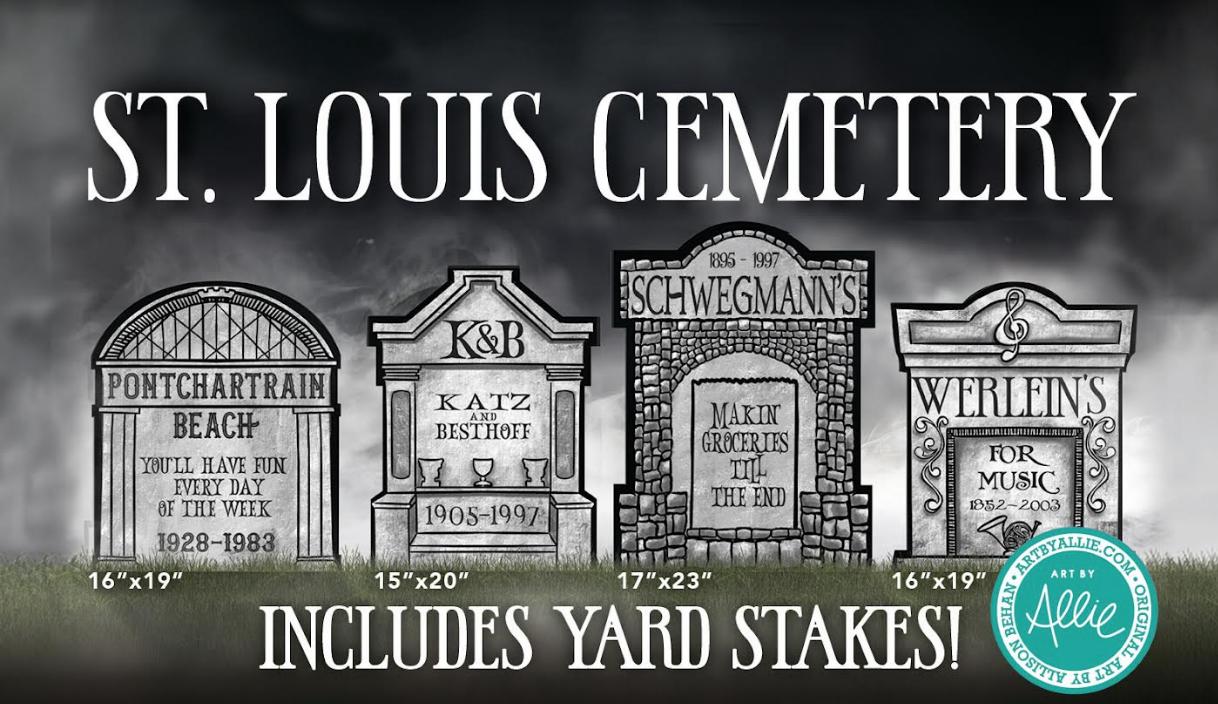 Ain't Dere Cemetery Yard Sign Set