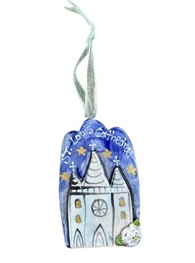 Ceramic St Louis Cathedral Ornament