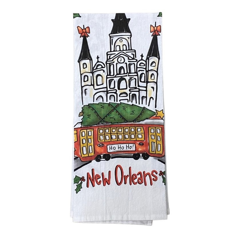 Cathedral Christmas Towel