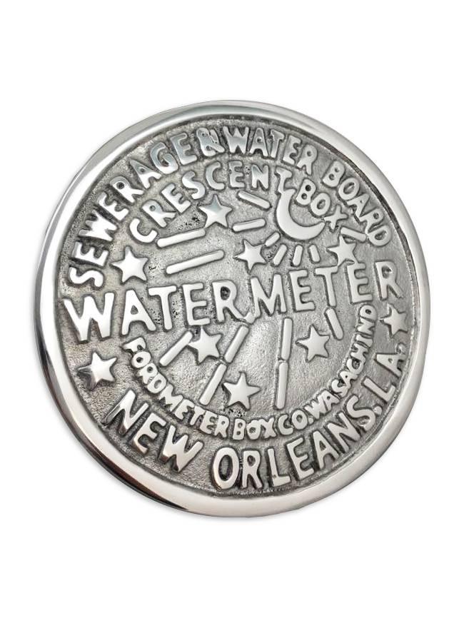 Silver New Orleans Water Meter Trivet