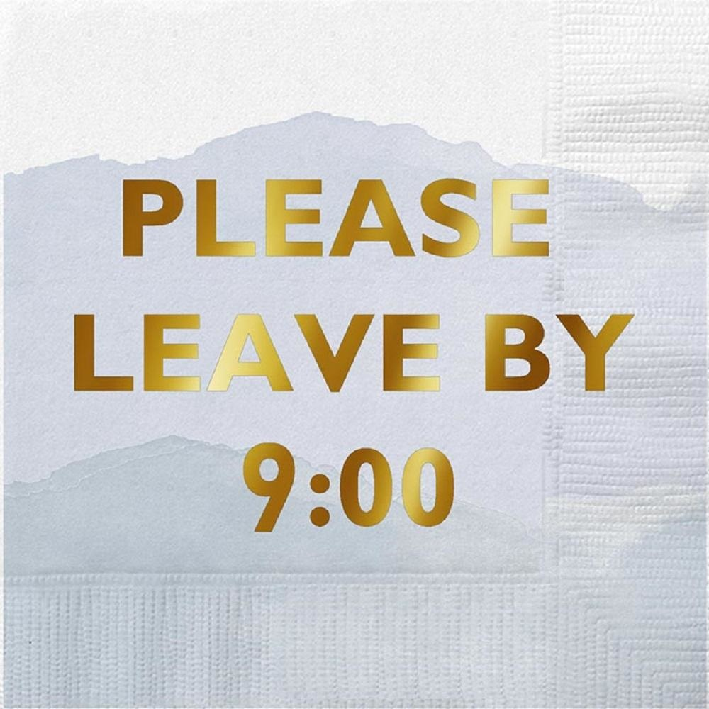 Please leave by 9 Napkin