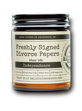 Divorce Papers Candle