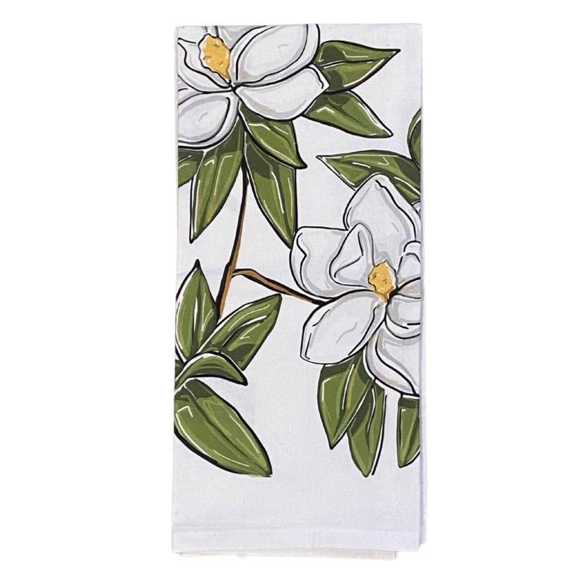 Magnolia Tea Towel
