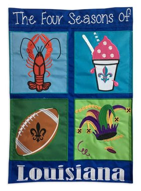 Fleurty Girl Four Seasons of Louisiana Garden Flag