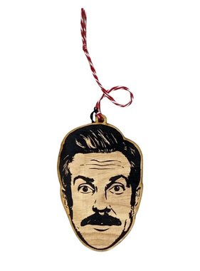 Celebrity Wood Ornament, Ted Lasso