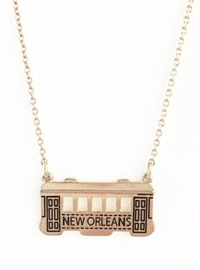 New Orleans Streetcar Necklace in Gold