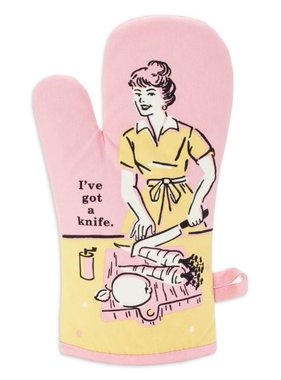 Blue Q I've Got A Knife Oven Mitt