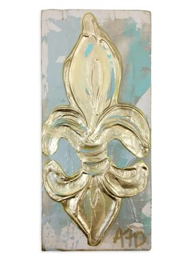Covered With Paint Fleur de Lis Wall Art