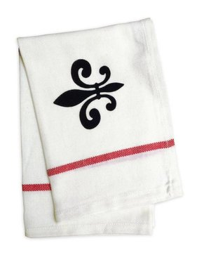 Nola Tawk Hand Stamped Towel, Fleur de Lis