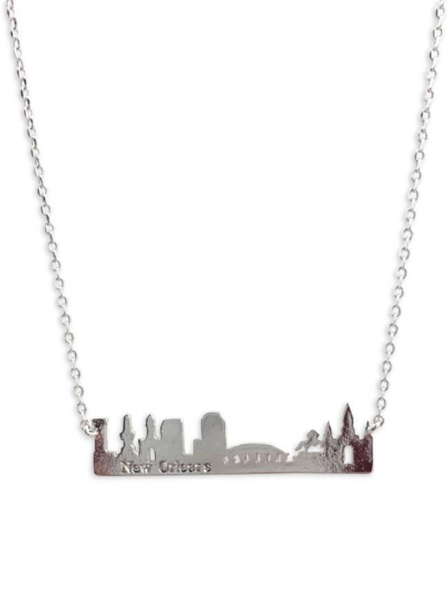 NOLA Skyline Necklace in Silver