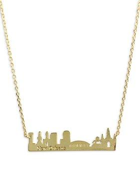 NOLA Skyline Necklace in Gold