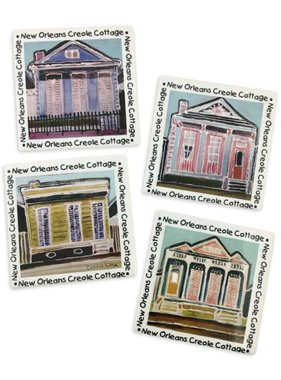 Creole Cottages Coaster Set