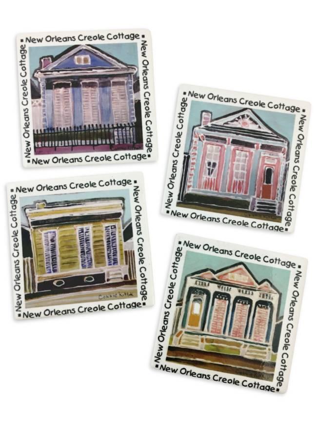 Creole Cottages Coaster Set
