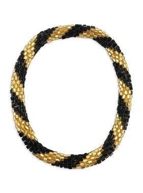 Black & Gold Nepal Roll On Bracelet