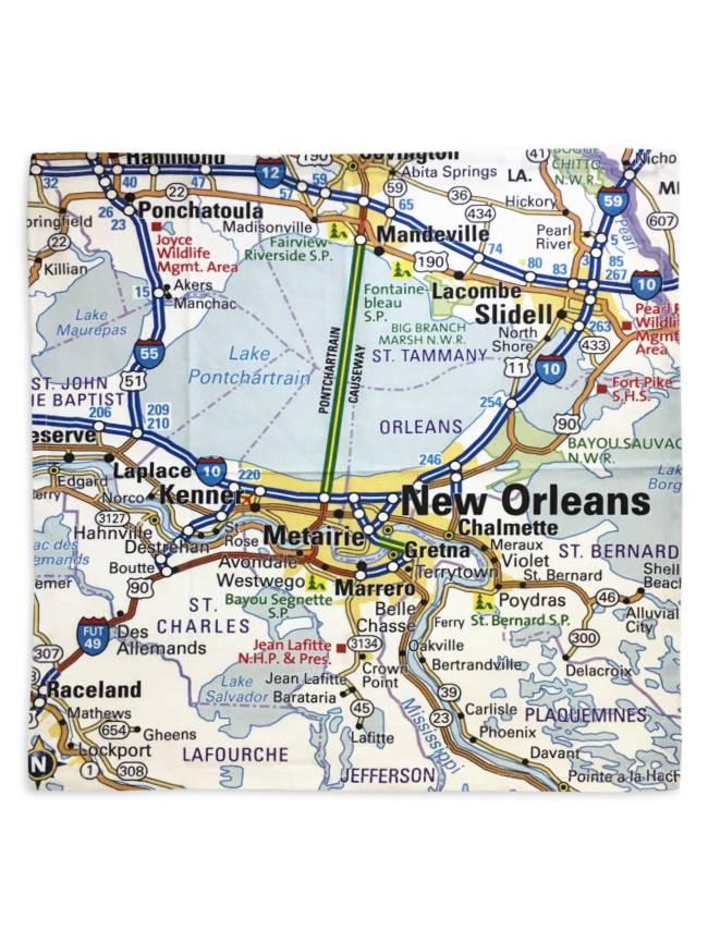 Nola Tawk New Orleans Map Napkins, Set of 4