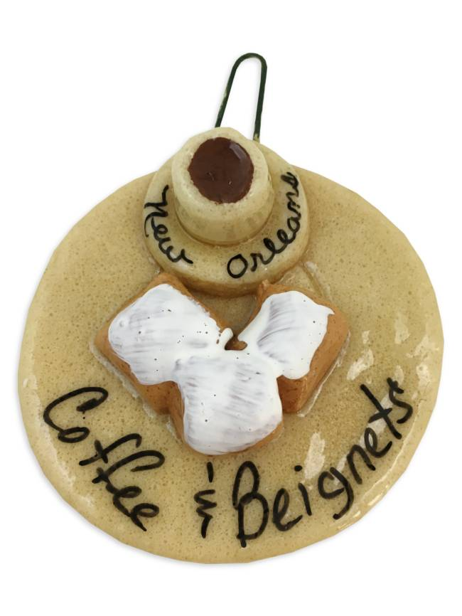 Coffee & Beignets Salt Dough Ornament