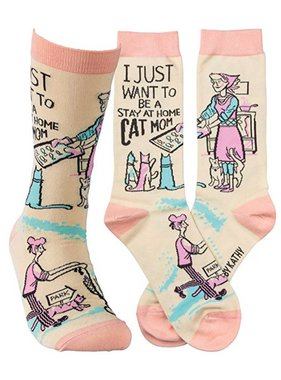 Primitives by Kathy Cat Mom Socks