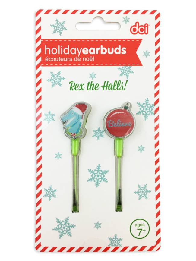 Rex the Halls Christmas Earbuds