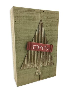 Merry Tree Pallet Sign