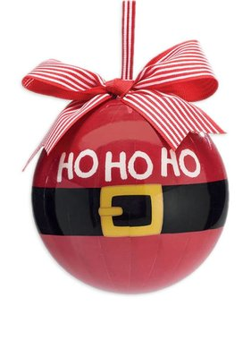 Santa Belt HO HO HO Ornament