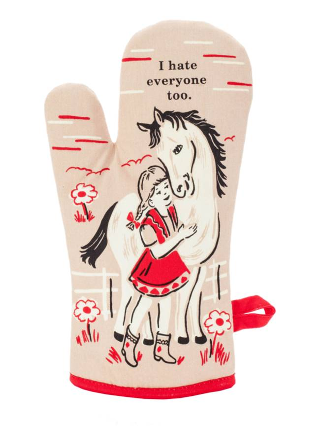 Blue Q I Hate Everyone Too Oven Mitt
