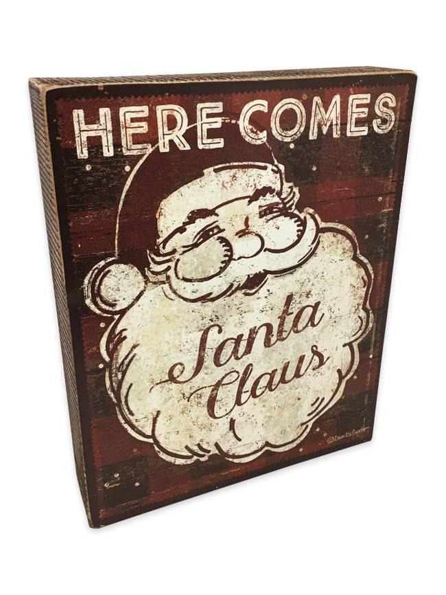Here Comes Santa Box Sign