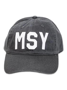 MSY Baseball Hat, Charcoal