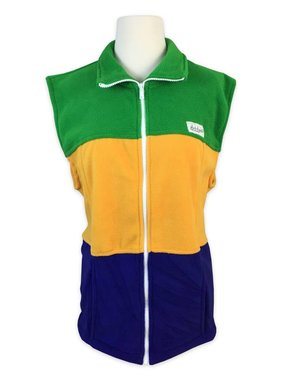 Mardi Gras Fleece Vest