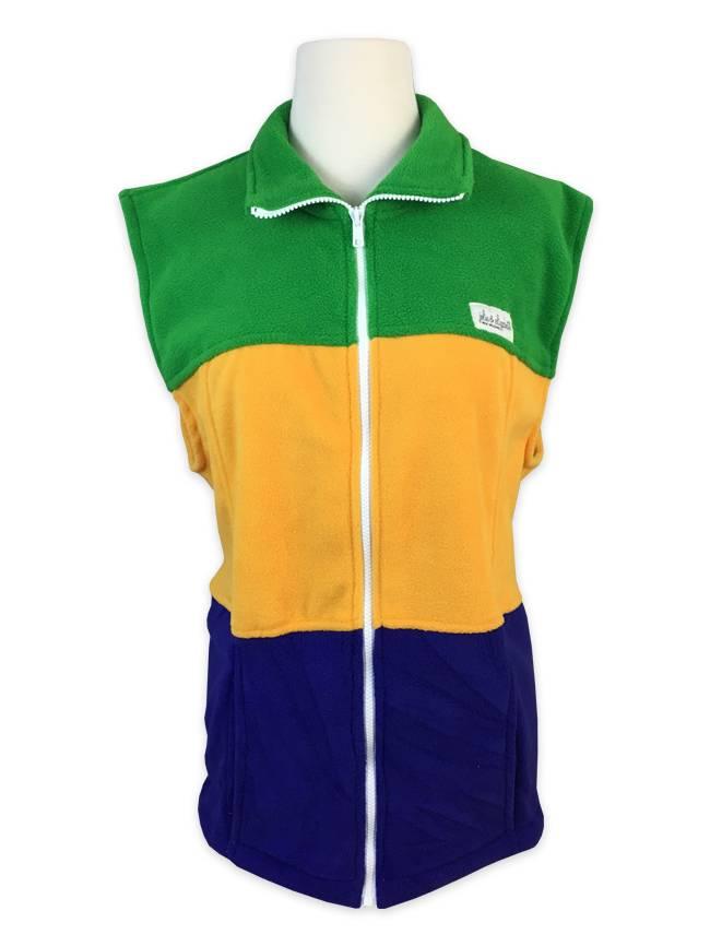 Mardi Gras Fleece Vest