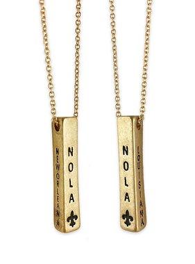 NOLA Bar Necklace in Gold