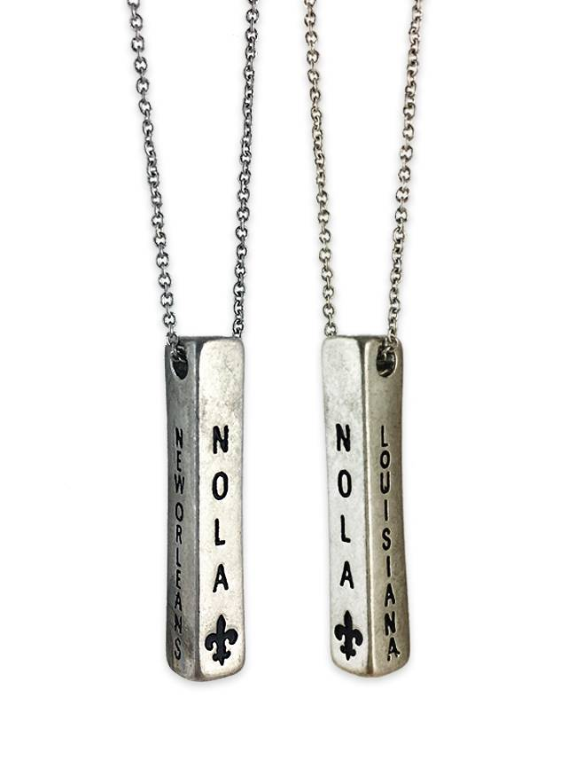 NOLA Bar Necklace in Silver