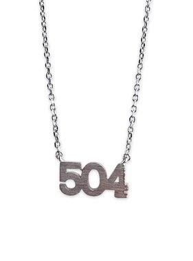 504 Necklace, Silver