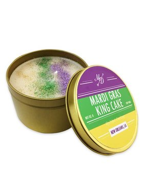 King Cake Candle Tin
